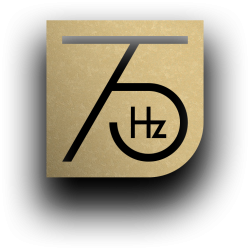 75 Hertz_Logo_invert_Gold_schatten